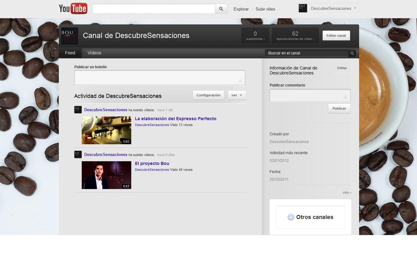 Descubre Sensaciones también en nuestro canal de Youtube