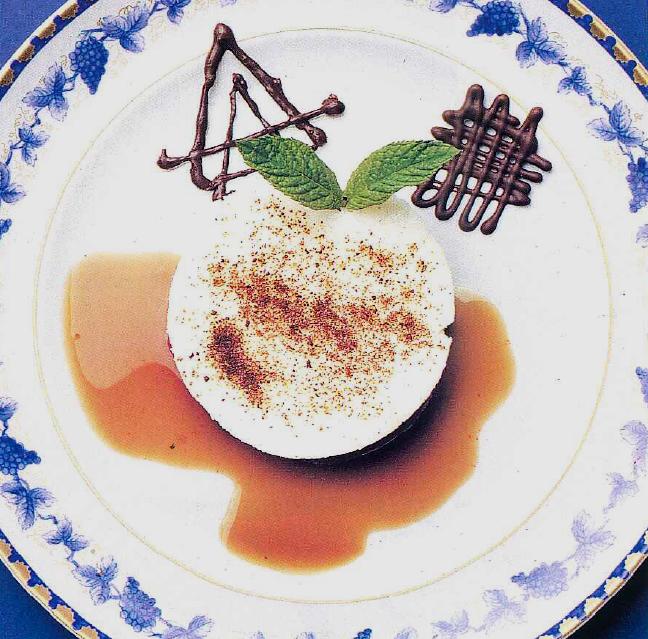 Parfait de tiramissú con gelatina de café