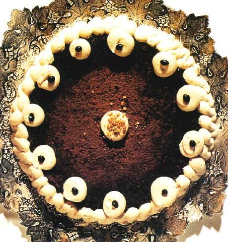 Tarta de café aromatizada al cacao