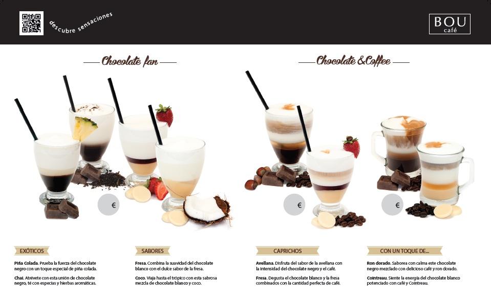 Carta de Invierno para los fans del café y del chocolate