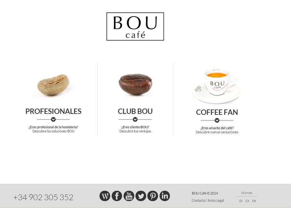 Nueva web BOU Café