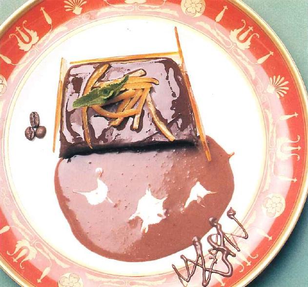 Trufa de chocolate con crema de café