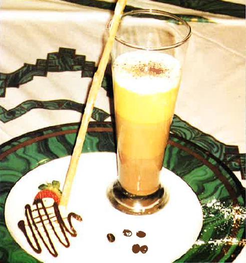 Espumoso de café con chocolate y brandy